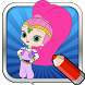 Coloring Game of Shimmer Shine by Poll Mobile Game for Kid