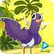 jumping Trash Dove Bird by fasciteapps