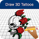 Step by Step Draw 3d Tattoos by Mohanbharti