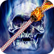 Burning Skull Zipper Lock by Zipper Lock Screen Inc