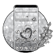 Diamond Silver Heart 2D Theme and Wallpaper by creative 3D Themes