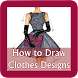 How to Draw Clothes Design by Mumudev