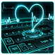 Neon Heart Keyboard Theme by Super Cool Keyboard Theme