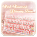 Pink Diamond Glitter Keyboard by Echo Keyboard Theme