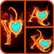 Fire Text Photo Frame by WiwDev