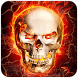 Golden Icon Fire Skull by jing xiongmeng