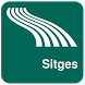 Sitges Map offline by iniCall.com