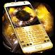 Gold Luxury Metal Keyboard Theme by Super Cool Keyboard Theme