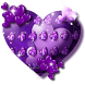 Purple Heart Balloon Keyboard by Super Cool Keyboard Theme
