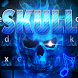 Flaming Skull keyboard Theme by Cheetah Keyboard Theme