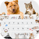 Cute Cat Dog Keyboard by Keyboard Design Paradise