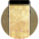 3D Gold Theme for Galaxy J& beach wallpaper HD by Cool Theme Workshop