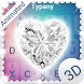 Shiny Diamond Heart 3D Theme&Emoji Keyboard