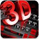 3D Black Red Keyboard Theme by Echo Keyboard Theme
