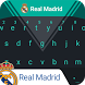 Real Madrid Pitch Dark Keyboard Theme by Kika Sports Keyboard Theme Lab