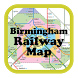 Birmingham Railway & Metro Map by Grow Comp