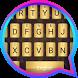 Gold Metal Theme&Emoji Keyboard by Emoji GIF Maker Fans