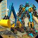 Excavator Crane Robot Transformation City Survival by White Sand - 3D Games Studio