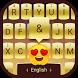 Golden Galaxy S8 Plus Theme&Emoji Keyboard by Emoji GIF Maker Fans