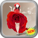 Women Red Rose Dress Fashion by LinkopingApps
