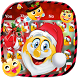 Christmas Santa Emoji Keyboard by Super Cool Keyboard Theme