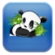 Jumping cute panda by jaitai chen