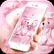Pink teddy bear Theme by fancy themes