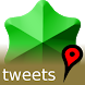 Tweets On A Map (Twitter) by mapocosm