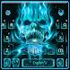 Neon Skull Flame Keyboard by Super Cool Keyboard Theme