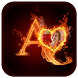 3D Fire Text Photo Frames by Video Media Gallery