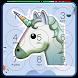 Emoji Unicorn Snow Lock Screen by RoBo Mobile Lab