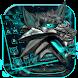3D Iron Wolf Keyboard Theme