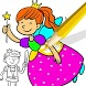 Princess Book Coloring Pages by Baca Baca Games