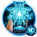 3D Frozen Snowflake Winter theme by 3dthemecoollauncher