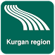 Kurgan region Map offline by iniCall.com