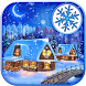 Snowy Christmas Village Wallpaper