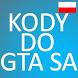 Kody po polsku GTA San Andreas by Barog