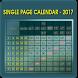 Single Page Calendar 2017 by SaiSourya apps