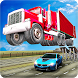Ramp Truck Trailer Open Doors Car Racing Stunts by microclip