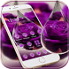 Water Drop Rose Purple Theme by MT Digits