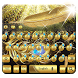 gold feather keyboard luxury golden mask by Super Keyboard Theme