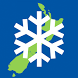New Zealand Snow Map by William Magrath