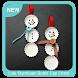 Cute Styrofoam Bottle Cap Christmas by The Andromeda Studio