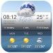 Skull Clock Weather Widget by Weather Widget Theme Dev Team