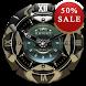 Black K Analog Clock Widget by SaintBerlin