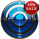 Blue S Analog Clock Widget by SaintBerlin