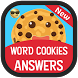 Word Cookies Answers Guide App by super cheats cheatsheet and answer guide for games