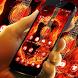 Neon Fire Guitar Wallpaper