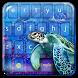 Underwater Turtle Keyboard by Keyboard Theme Factory