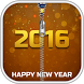 New Year 2016 Zipper Lock by AndroBeings
